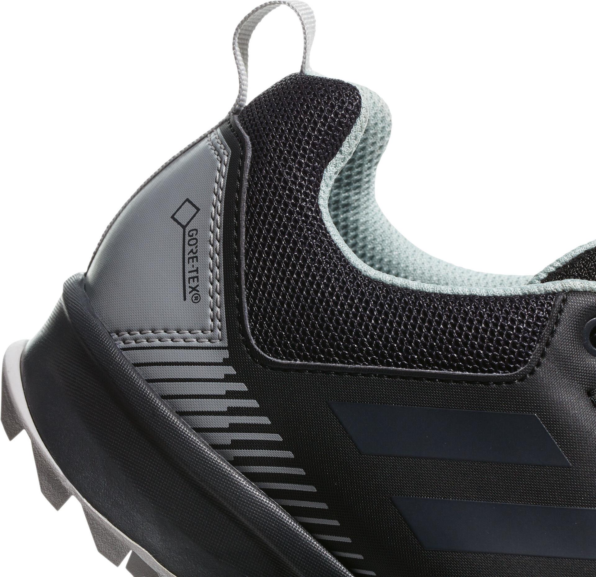 adidas TERREX TraceRocker GTX Trail Running Shoes Damen core blackcarbonash green